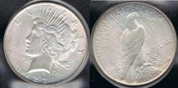 EE.UU.  USA   DOLLAR 1923  PEACE PLATA SILVER..B3 - 1921-1935: Peace