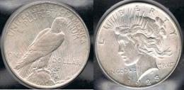 EE.UU.  USA   DOLLAR 1923  PEACE PLATA SILVER..B4 - 1921-1935: Peace