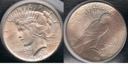 EE.UU.  USA   DOLLAR 1924  PEACE PLATA SILVER..B6 - 1921-1935: Peace