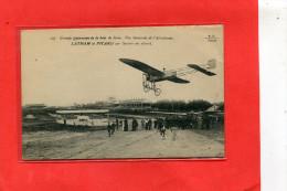LE HAVRE AVIATION  AERODROME  1910  METIER AVIATEUR  LATHAM ET PICARD SUR   AVION PICARD   CIRC OUI EDIT - Le Havre