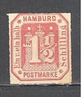 Hambourg: Yvert N°23*; Charniére Forte - Hambourg
