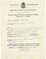 Paris,1832, Cabinet Du Ministre De L´intérieu,remerciement  Pour L´envoi Livre De Zangiacomi - Documents Historiques