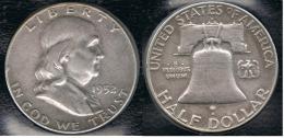 EE.UU.  USA HALF DOLLAR 1952  DENVER PLATA SILVER - 1948-1963: Franklin