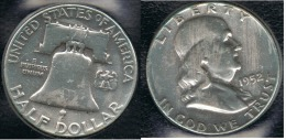 EE.UU.  USA HALF DOLLAR 1952  PLATA SILVER - 1948-1963: Franklin
