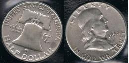 EE.UU.  USA HALF DOLLAR 1954 PLATA SILVER - 1948-1963: Franklin