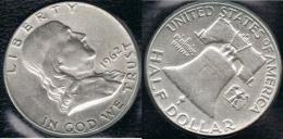 EE.UU.  USA HALF DOLLAR 1962  DENVER PLATA SILVER - 1948-1963: Franklin