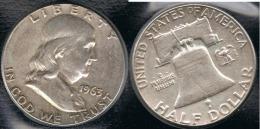 EE.UU.  USA HALF DOLLAR 1963  PLATA SILVER. B1 - 1948-1963: Franklin