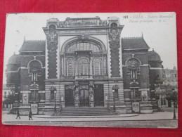 LILLE Le Théâtre Municipal Façade Principale Animée Timbrée 1925 - Lille