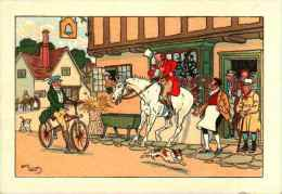 Illustrateur Harry Eliott - Vélocipède Et Cheval (Barré & Dayez, 1230) - Elliot