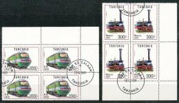 Tansania  -  Mi.Nr.  1022 - 1028   -   Gestempelt    4 Er Block - Tansania (1964-...)