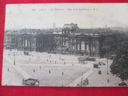 LILLE La Préfecture Place De La République Animée Timbrée 1925 - Lille