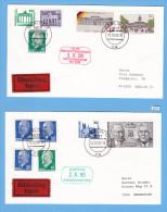 BERLIN 2 EXPRES COVERS, BERLIN 17, 2. 10.1990, 3. 10. 1990, TOP - Lettres