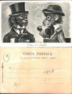 Illustrateur Maurice Boulanger - Têtes D'artistes, Singes Humanisés - Illustratori & Fotografie