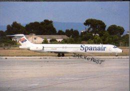 McDonnell Douglas DC 9-83 Spanair Avion Lot Aircraft DC9 Aviation Aiplane DC-9 - 1946-....: Moderne