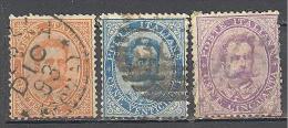 Italie: Yvert N°36/41°; 3 Valeurs; Voir Le Scan - 1878-00 Humbert I