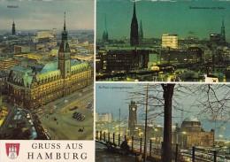 Germany Gruss Aus Hamburg Panorama mit Rathaus und St Pauli Land
