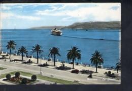 J2601 MESSINA ( Sicilia, Sicily ) Lo Stretto Con NAVE - Navi, Ship, Bateau - Ed- CARISME Vera Fotografia BROMOCOLOR - Messina