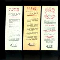 X3 Marque Pages : Editions ODE Le Monde En Couleur : Le Guide à La Page + Les Clefs Du Bonheur - Segnalibri