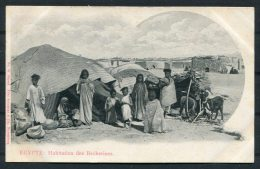 Egypt Egypte Habitation Des Becherines Schneller Postcard - Egypt