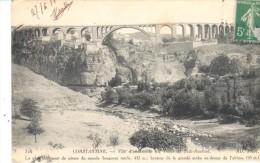 POSTAL   VISTA DEL PUENTE DE SIDI-RACHED -EL PUENTE MAS ALTO DE PIEDRA DEL  MUNDO - Argelia