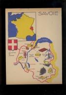 Protège Cahier Série Provinces : Savoie Recto Le Mont Blanc Verso Carte Illustrée / Création Noversal Villeurbanne - Buvards, Protège-cahiers Illustrés