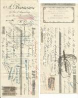 LOT DE TRAITES AVEC TIMBRES FISCAUX - Invoices & Commercial Documents