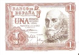BILLETE DE 1 PTA DEL 22/07/1953 SERIE Z SIN CIRCULAR-UNCIRCULATED  (BANKNOTE) - [ 3] 1936-1975 : Régence De Franco