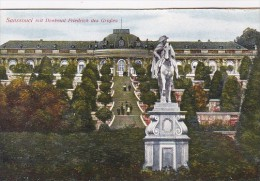 Germany Potsdam Sanssouci Mit Denkmal Frierich des Grossen