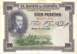 BILLETE DE ESPAÑA DE 100 PTAS DEL AÑO 1925 CON DOBLE FIRMA  (BANKNOTE) RARO - [ 1] …-1931 : Primeros Billetes (Banco De España)