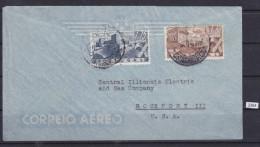 PORTUGAL 1946, AIRMAIL TO USA, Mi: 698 , 700, - Poste Aérienne