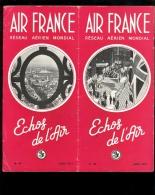 AIR FRANCE ECHOS DE L'AIR Bulletin N°49 Aout 1951 Festival De Londres / Photos Equipe Foot Belgique Stand Salon Aviation - Reiseprospekte