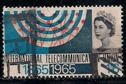 UK 1965 Used Stamp(s) I.T.U. Centenary Nr.407 One Value Only - 1952-.... (Elizabeth II)