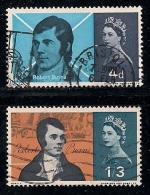 UK 1966 Used Stamp(s) Robert Burns Nrs. 408-409 - 1952-.... (Elizabeth II)