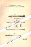 Original Patent - Schreib-Federhalter Mit Dintenfüllung , 1881 , Füllfederhalter , Hugo Burckas In Leipzig !!! - Schreibgerät