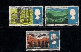 UK 1966 Used Stamp(s) Landscapes Nrs. 418-421 #14333 (3 Values Only) - 1952-.... (Elizabeth II)