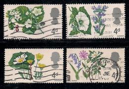 UK 1967 Used Stamp(s) British Wild Flowers Nrs. 446-451 4 Values Only - 1952-.... (Elizabeth II)