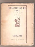 DESCRIPTION DU CIEL Par André DANJON - F.Rieder Et Cie Editeurs, Paris 1926