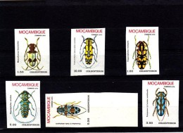 EXTRA-6-18 MOZAMBIQUE BEATLES. UNPERFORATED COMPLET SET. - Insekten