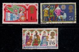 UK 1969 Used Stamp(s) Christmas Nrs. 532-534 - 1952-.... (Elizabeth II)