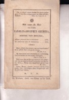 BELCELE BELSELE Carolus GEUBELS 1795-1848 Koster Doodsprentje Bidprentje DP - Obituary Notices