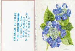 CALENDRIER 1983  PHARMACIE DU PALAIS  MARSEILLE  Fleurs - Tamaño Pequeño : 1981-90