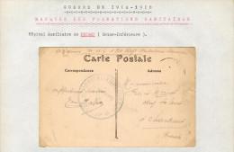 Archives 14/18 - Marques Des Formations Sanitaires - Hôpital Auxiliaire De Fécamp ( Seine-Inférieure ) - Marcophilie (Lettres)