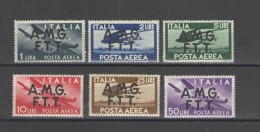 TRIESTE A 1947 POSTA AEREA DEMOCRATICA** MNH LUSSO - 7. Trieste