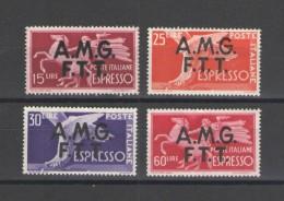 TRIESTE A 1944-48 ESPRESSI DEMOCRATICA** MNH LUSSO - 7. Trieste