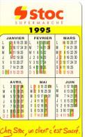 CALENDRIER 1995  STOC  Supermarché - Calendari