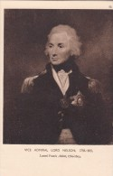 """POSTCARD VICE ADMIRAL LORD NELSON 1758-1805 Lemuel """"Francis"""" Abbott ART GALLERY - Historical Famous People"""
