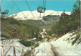 B3880 Scanno (L´Aquila) - Seggiovia Sul Monte Rotondo / Viaggiata 1963 - Italia