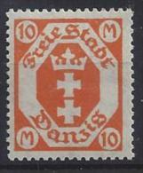 Germany (Danzig) 1922-23  (**) MNH  Mi.125y - Dantzig