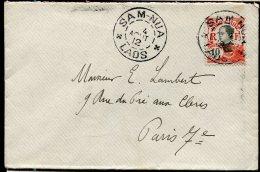 78187 - 1 TP, Tarif  10 C, Cad Type A SAM NUA LAOS Aout 1912 Pour La FRANCE TB - Briefe U. Dokumente