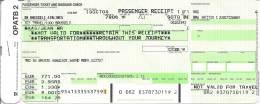 Ticket d�avion (passenger receipt) et Boarding Pass - SN Brussels Airlines - Vol SN3728 - Madrid-Brussels - 22OCT04